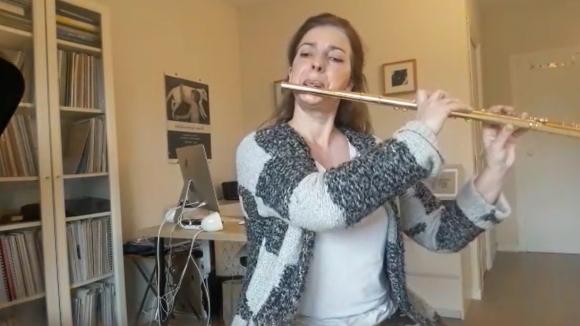 Patricia De No regala Fantasia en fa#menor per a flauta sola de G. Ph. Telemann