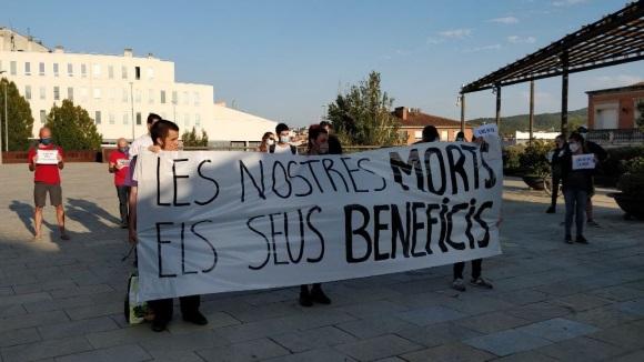 Protesta per un accident laboral mortal a Sant Cugat:
