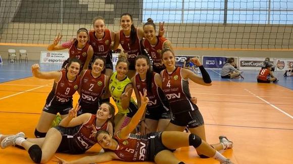 El DSV- Club Voleibol Sant Cugat supera l'Alcobendas en un matx ple d'èpica