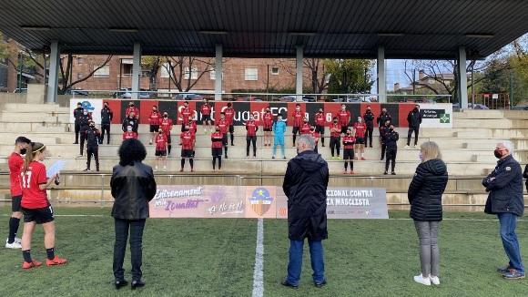 El Sant Cugat Futbol Club lluita contra la violència de gènere, tot i la Covid-19