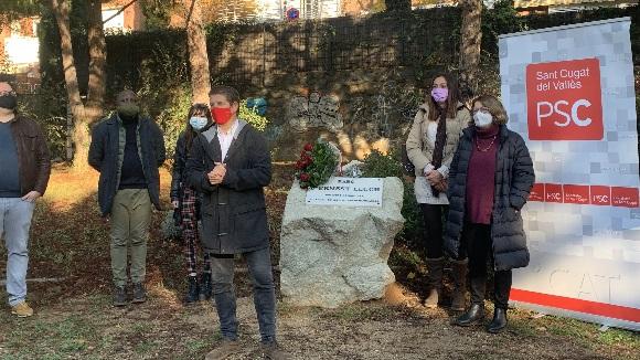 El PSC de Sant Cugat homenatja Ernest Lluch en el 20è aniversari del seu assassinat