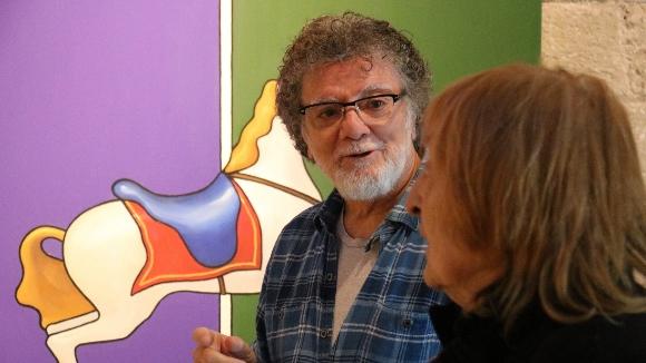 Lluís Ribas fa un gir radical com a artista als seus 72 anys
