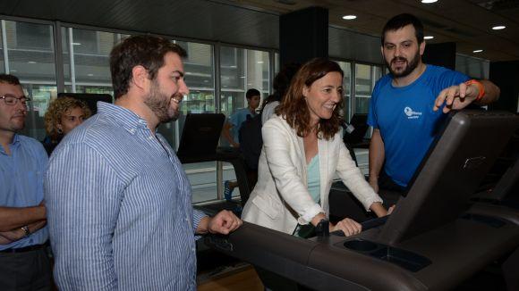 L'alcaldessa ha visitat les instal·lacions / Foto: Localpres