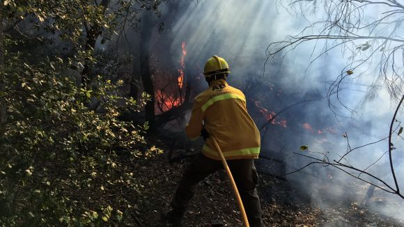 Una imatge de l'incendi / Foto: ADF Sant Cugat