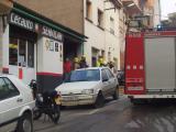 El ferit ha estat traslladat a l'Hospital la Vall d'Hebron.