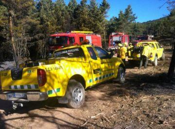 Tres santcugatencs col·laboren en l'extinció dels focs del Pirineu lleidatà