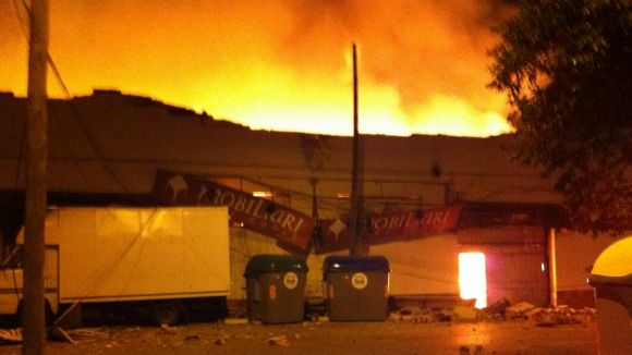 Els Mossos apunten a una causa accidental en l'origen del foc de Mercantic