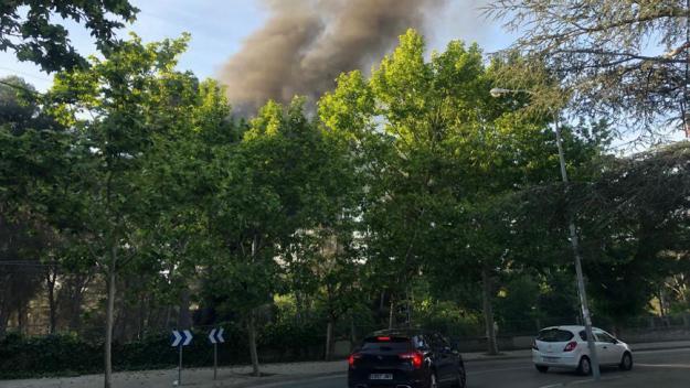 Imatge de l'incendi / Foto: Cugat.cat