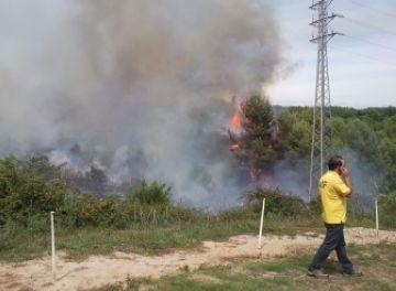 Dos petits incendis de matolls, balanç de la campanya d'incendis a la ciutat