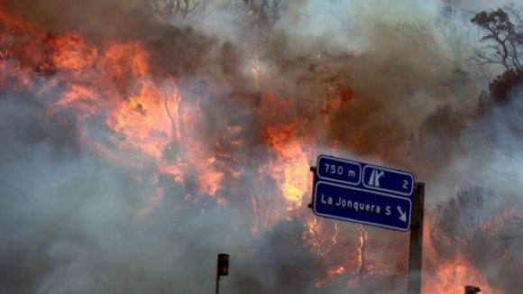 Bombers de Rubí-Sant Cugat es desplacen a l'incendi de la Jonquera