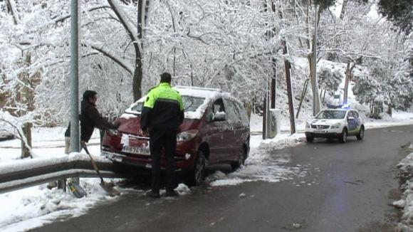 La mobilitat, principal afectada per la nevada