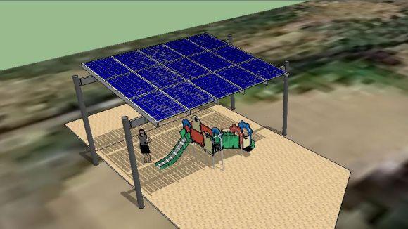 La UAB i l'Ajuntament instal·len una pèrgola fotovoltaica a l'escola Catalunya