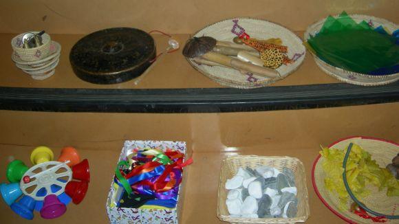 Imatge dels instruments que han protagonitzat el taller