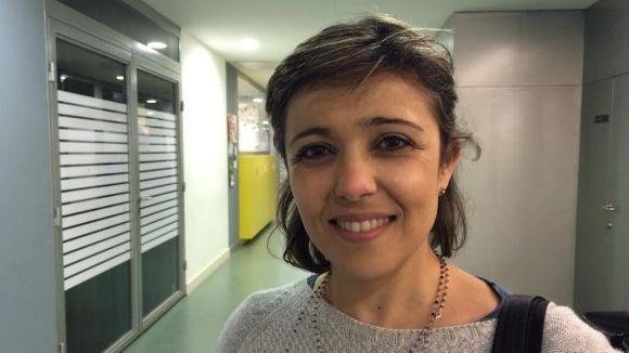 Irene Cordón, instants abans de la xerrada