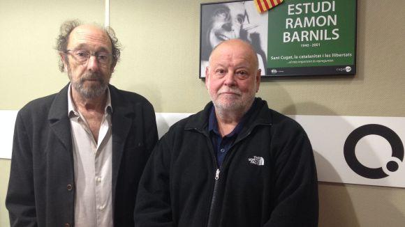 Jaume Espina, a l'esquerra, amb Joan Ribera de Cal Tartraner