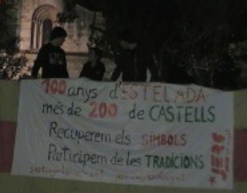 Les JERC despleguen una Estelada gegant per commemorar el centenari de la bandera