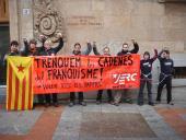 Les JERC s'encadenen a Salamanca per demanar el retorn de tots els papers