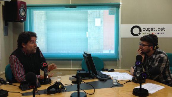 Jesús-Angel Prieto (esquerra) entrevistat per Sergio Morales