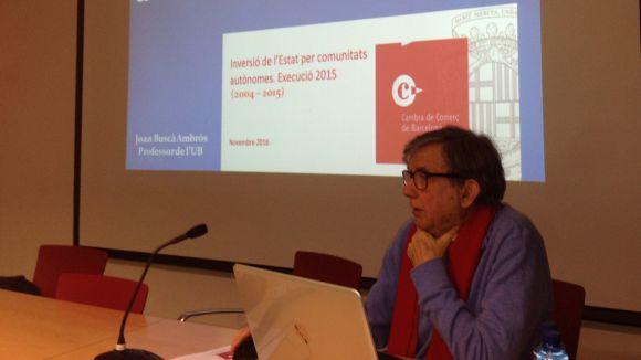 Joan Buscà critica el dèficit en inversions a Catalunya en una xerrada del PDeCAT
