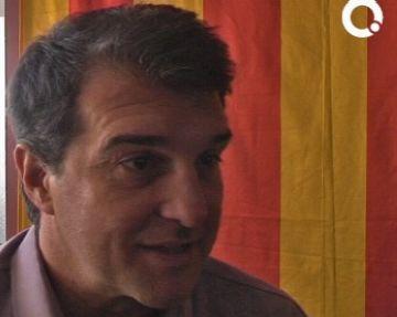 Laporta defensa l'entrada 'amb força' al Parlament tot i la campanya de sectors de CiU i ERC, i del Grup Godó