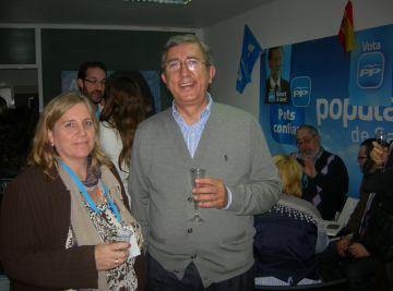 Jordi Carreras ha celebrat la victòria a la seu local del partit