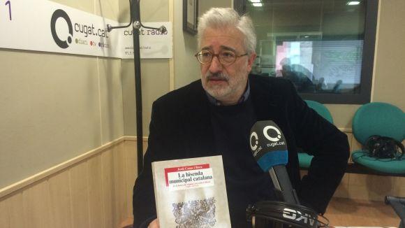 Jordi Casas presentant el seu darrer llibre al 'Sant Cugat a fons'