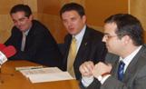 L'alcalde Recoder -al centre de la imatge- ha presidit l'acte de presentació de la jornada