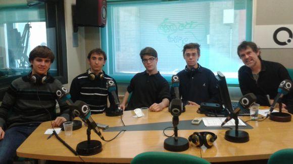Part dels membres fundadors de la Jove Orquestra Sant Cugat (JOSC), amb Xavier Blanch