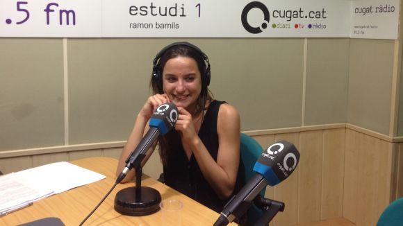 La cantant, a l'estudi de Cugat.cat durant l'entrevista d'El Club dels Bolats