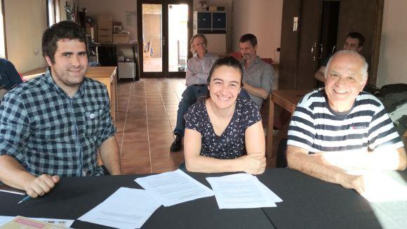 Julià Mestieri, Guernica Facundo i Narcís Sànchez han formalitzat l'acord a Cal Temerari