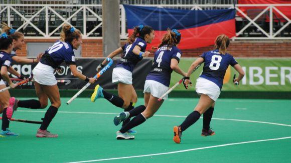 Anna Gil ha fet el gol de la victòria / Foto: RFEH