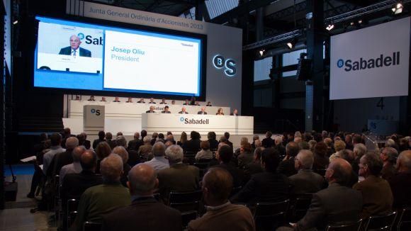 Banc Sabadell aprova la gestió i el resultat del 2012 per majoria