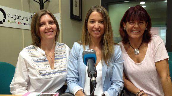 Xela Falgueras i Sylvie Estrada (Just for your kids) amb Berta Sàrrias (Activitat Sant Cugat)