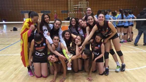 L'equip juvenil del DSV-Club Voleibol Sant Cugat, campiones de Catalunya