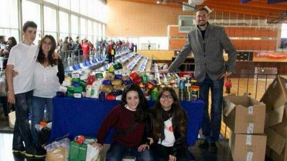 Punt de recollida d'aliments durant el torneig Ciutat de Sant Cugat / Foto: Club Karate Sant Cugat
