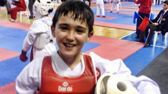 Sergi Llorente, del Karate Sant Cugat, campió de Catalunya de kumite