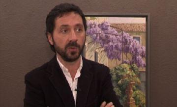 El pintor Kiku Poch porta els seus 'paisatges viscuts' a la sala Rusiñol