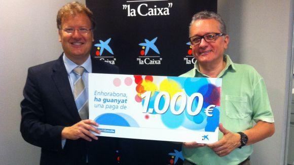 'La Caixa' reparteix 1.000 euros a dos santcugatencs