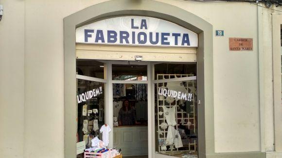 La botiga tancarà definitivament quan completi la liquidació d'existències