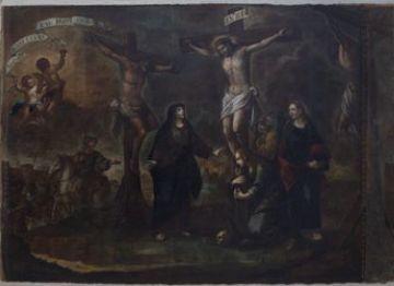 'La Crucifixió' ha tornat a l'església Dolors de Girona / Font: Premsa Gencat