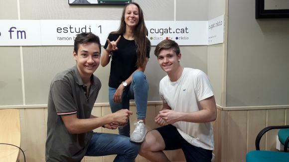 Laia Muñoz amb Marc Ledesma i Guillem Ruiz