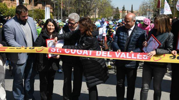 Alejandro Valverde, gran atracció a Sant Cugat de la sortida de la Volta a Catalunya