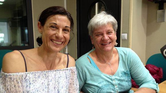 Lídia Guerrero i Mercè Altarriba visiten el magazín