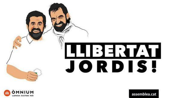 Entitats sobiranistes organitzen un acte dimarts que ve amb motiu dels tres mesos de presó dels 'Jordis'