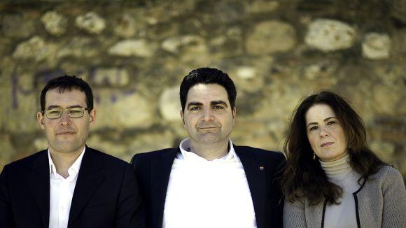 Els regidors de C's, Sergio Blázquez, Aldo Ciprián i Munia Fernández-Jordán