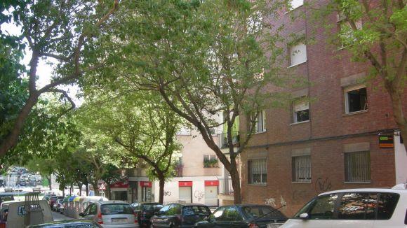 Cau una dona des d'un primer pis al passeig de Torreblanca