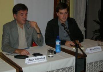 Presentació als joves del llibre de Lluís Recoder en un acte de la JNC