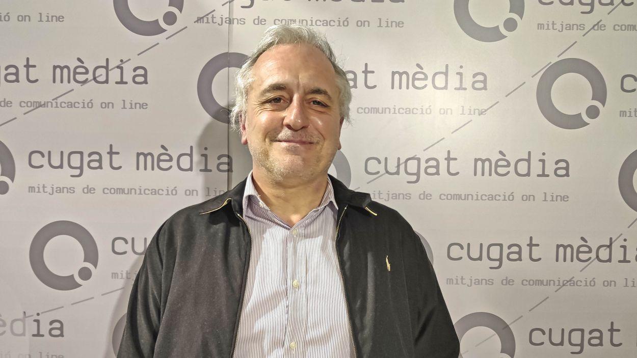 Lluís Cabal al plató de Cugat Mèdia /Foto: Cugat Mèdia