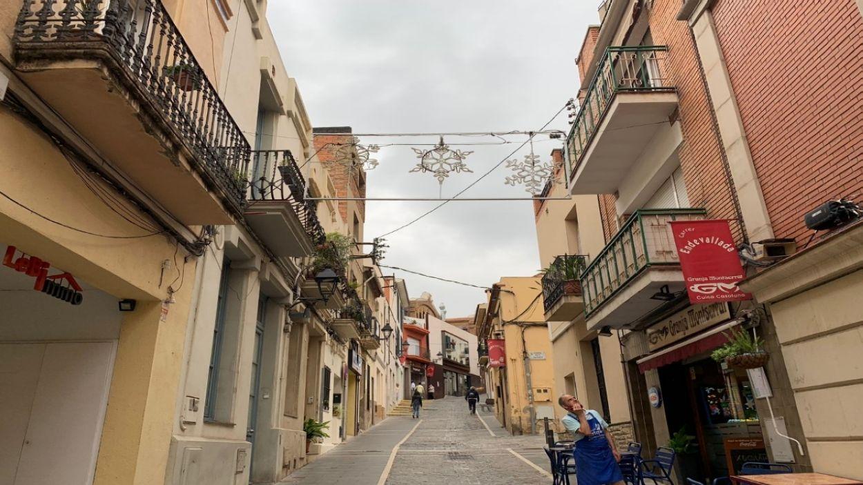 LLums de Nadal al carrer Endavallada de Sant Cugat / Foto:Cugat Media