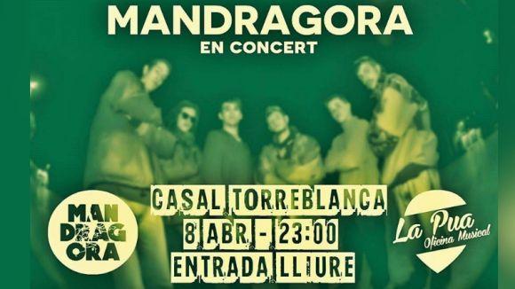 El grup de reggae Mandràgora actua avui al Casal TorreBlanca